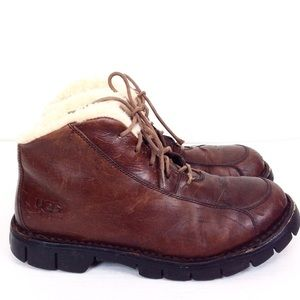 UGG Brown Shearling Laced Boots 10.5 - N846